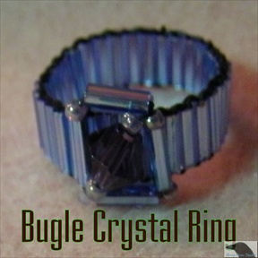 Bugle Crystal Ring