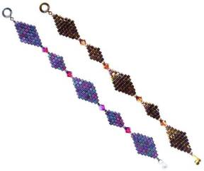 Double Diamonds - Brick Stitch Bracelet