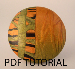 Tutorial - Polymer Clay Modern Mica Bead or Pendant