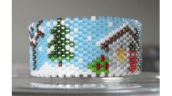 Country Christmas Tea Light Cover