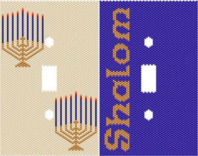 DUET 6 HANUKKAH SWITCHPLATE COVERS