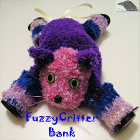 Fuzzy Critter Sock Bank