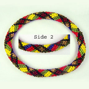 MacMillan Scottish Plaid Bead Crochet Bracelet #296