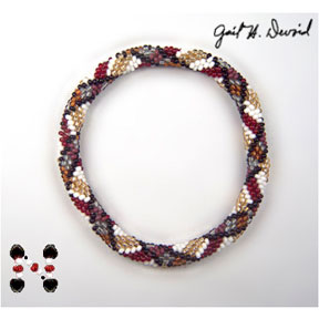 Scottish Plaid Bead Crochet Bracelet #225
