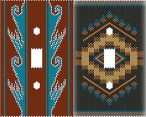 DUET 11 SOUTHWEST SWITCHPLATE COVERS