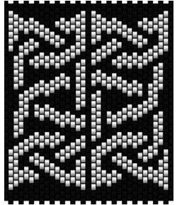 Celtic Knot 3 wide. Peyote stitch