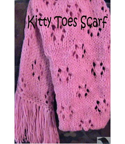 Kitty Toes Knitted Scarf
