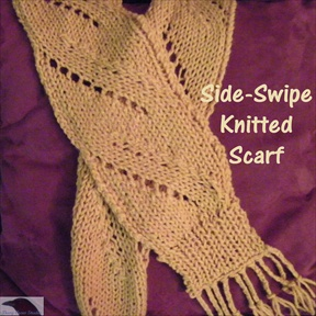 Side Swipe Knitted Scarf