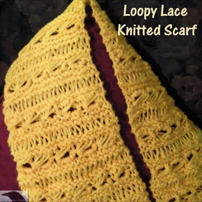 Loopy Lace Knitted Scarf