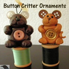 Button Critter Ornaments