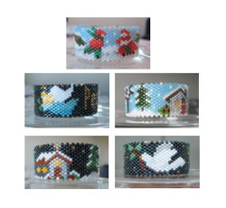 2009 Christmas Tea Light Cover Collection #2