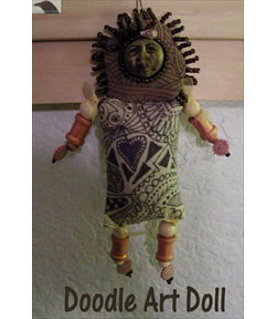 Beaded Doodle Art Doll