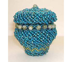 Lidded Beaded Basket