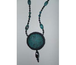 Twisted Frame Turquoise Necklace