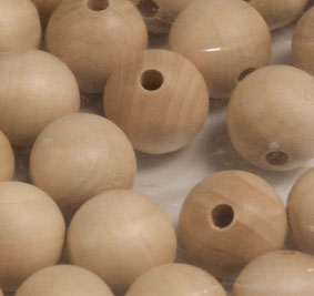 "Wooden Bead 20mm (3/4""), 30 per package"
