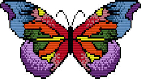 Large Rainbow Butterfly