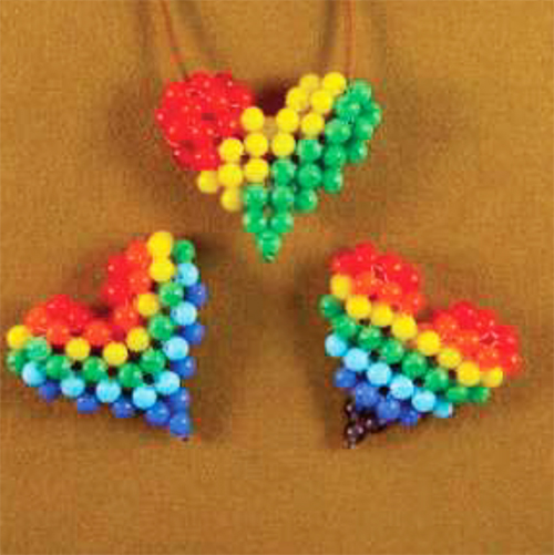 Rainbow and Rasta Puffy Heart Patterns