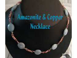 Amazonite & Copper Necklace
