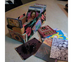 Recycled Artist Trading Card Storage Box