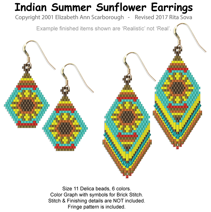 Indian Summer Sunflower Earrings in 2 Styles