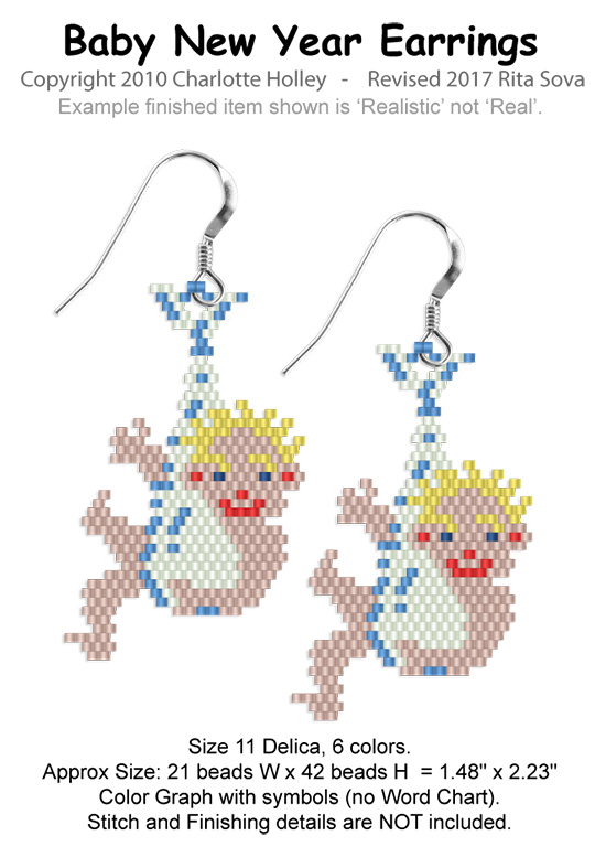 Baby New Year Earrings