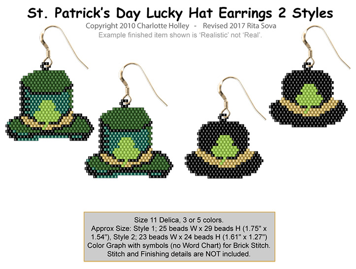 St. Patrick's Day Lucky Hat Earrings
