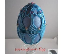 Springtime Beaded Egg