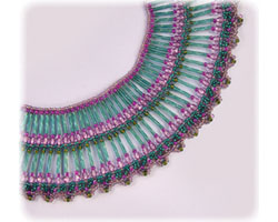 Bugle Collar Lace Necklace