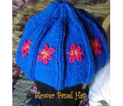 Flower Panel Knitted Hat