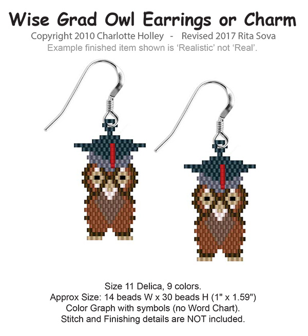 Wise Grad Earrings/Charms