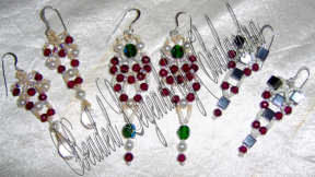 Variations on a Theme Christmas Earrings