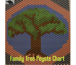 Family Tree Peyote Beading Chart