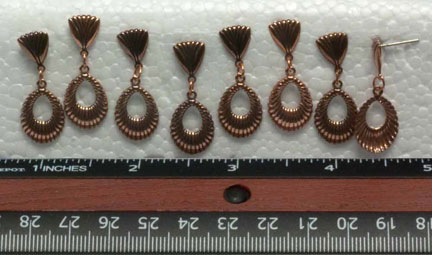 Drop Charms/Earrings, Antique Copper (8 per Package)