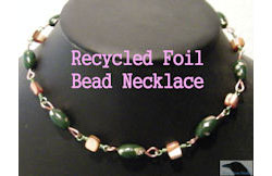 Recycled Foil Bead Necklace