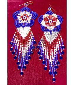 Patriotic Star/Flower Earrings