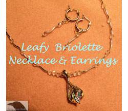 Leafy Briolette Necklace with Earrings