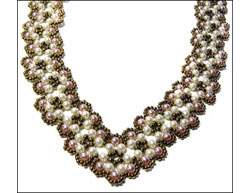 Scalloped Pearl Necklace