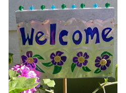 Beaded Welcome Sign