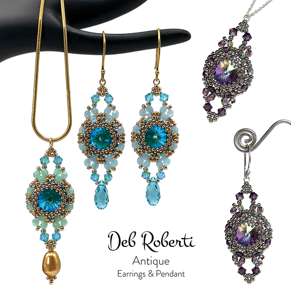 Antique Earrings & Pendant