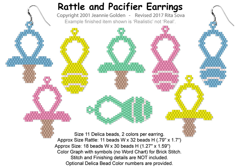 Rattle and Pacifier Earrings