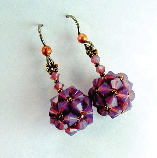 Crystal Cornerless Cube Earrings