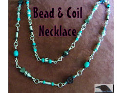 Bead and Coil Necklace