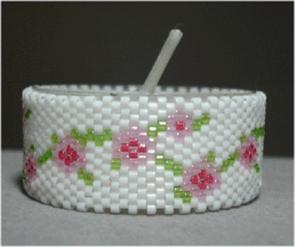 Floral Garland Tea Light Cover