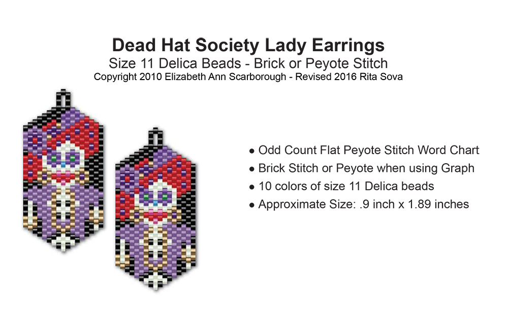 Dead Hat Society Ladies Earring