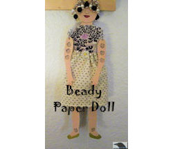 Beady Paper Doll