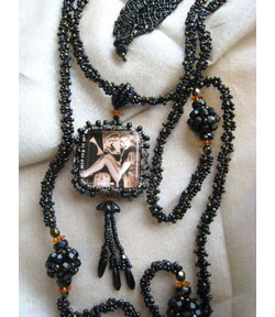 Beaded Picture Frame Lariat