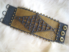 Leather and Lace Bracelet