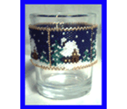 Winter Cabin Candle Cover