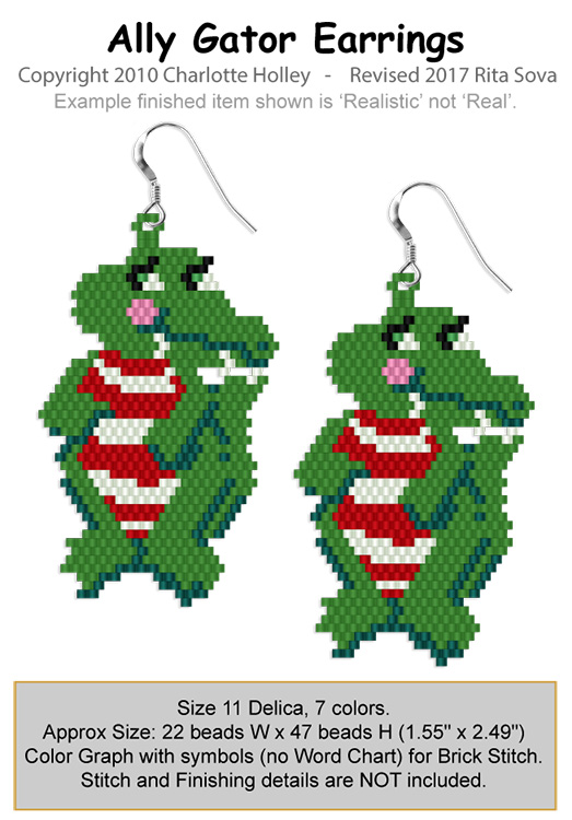 Ally Gator Earrings