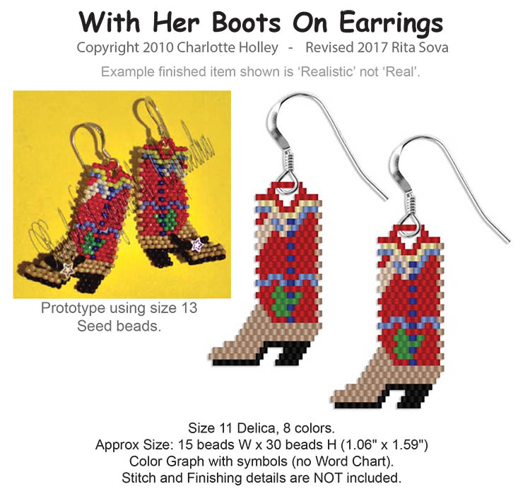 With Her Boots On Earrings